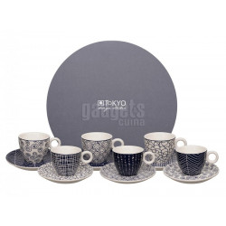SET OF 6 ESPRESSO MUGS 14563