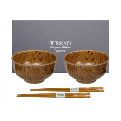 MOKUZAI WOOD LOOK BOWL SET