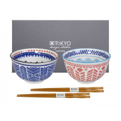 ETHNIC BOWL SET BLUE
