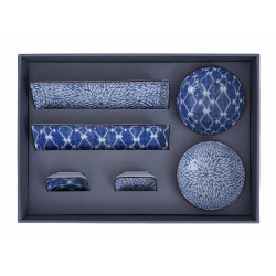 KIKU SHIBORI DINNER SET