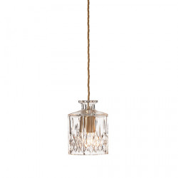 CEILING LAMP DECANTERLIGHT CLEAR CRYSTAL SQUARE