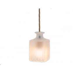 CEILING LAMP DECANTERLIGHT FROSTED SQUARE