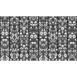 WALLPAPER SJA WITHERED FLOWERS B&W