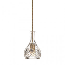 CEILING LAMP DECANTERLIGHT CLEAR CRYSTAL BELL