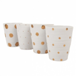 SET MUGS GOLDEN DOT