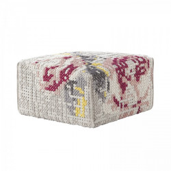 FLOWERS SQUARE POUF