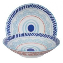 ETHNIC BOWL LARGE LIGHT BLUE