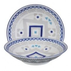 ETHNIC BOWL LARGE GREY