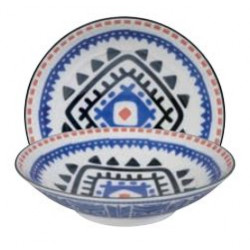 ETHNIC BOWL LARGE BLUE
