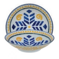 ETHNIC BOWL LARGE YELLOW