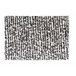 MANUSCRIT BLACK ON WHITE RUG