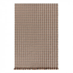 GARDEN LAYERS CHECKS TERRACOTTA RUG