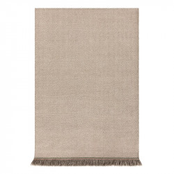 GARDEN LAYERS DIAGONAL ALMOND-IVORY RUG