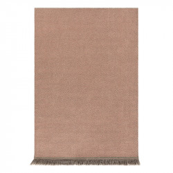 GARDEN LAYERS DIAGONAL ALMOND-PEACH RUG