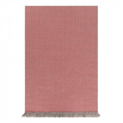GARDEN LAYERS DIAGONAL ALMOND-RED RUG