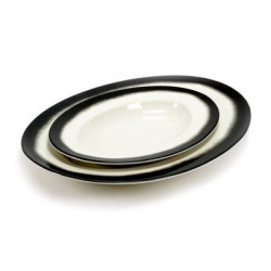 OVAL DISH BLACK EDGE PASTA