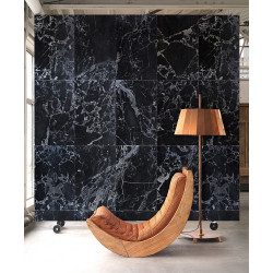 WALLPAPER BLACK MARBLE