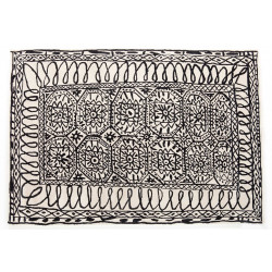 ESTAMBUL BLACK ON WHITE RUG