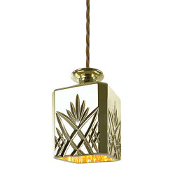 CEILING LAMP DECANTERLIGHT GOLD SQUARE