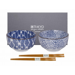 KIKU SHIBORI BOWL SET
