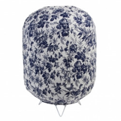 LAMP FLORAL WHITE