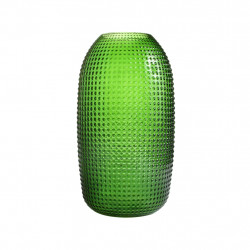 VASE DOTTED GREEN L