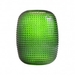 VASE DOTTED GREEN S