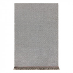 GARDEN LAYERS DIAGONAL ALMOND-BLUE RUG