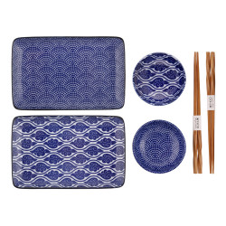 NIPPON BLUE SET OF 2 PLATES 7590