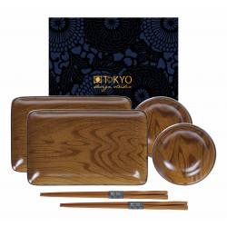MOKUZAI WOOD LOOK SUSHI SET